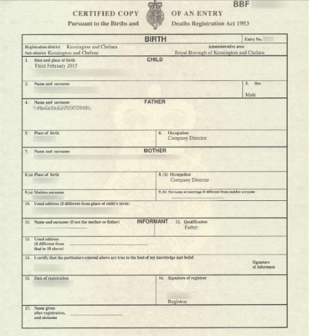 birth certificate apostille uk